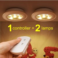 battery puck light - Misso Stick on Portable Wireless Remote Control Puck Light Under Cabinet Closet Light With Controller Night Light Battery Operated
