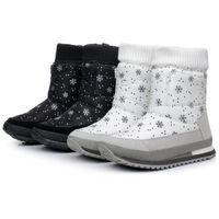 Botas para la nieve pato mujeres Baratos-Venta al por mayor-Mujer botas de invierno nuevo diseño de pato de goma de nieve impermeable botas de jogging mujeres zapatos multicolores S4786