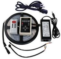 Acheter Couleur de rêve magique-Vente en gros-5m IP67 Tube étanche LPD6803 6803 IC Magic Dream couleur Flexible RGB LED bande 12V 30LED / m SMD 5050 alimentation 133 RF à distance