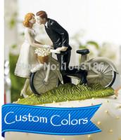 bicycle wedding cake - Bicycle Kiss Custom Couple Cake Top Figurine funny wedding cake toppers DG14