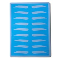 Wholesale 5 blue Rubber Eyebrow Fake Skin15cm x cm Permanent Makeup Tattoo Practice Skin for Beginners
