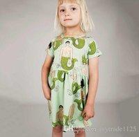 Cheap Summer girl's dress Best Knee-Length 100% Cotton dress