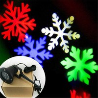 Wholesale Multi Colour Snow Moving Laser Lamp Landscape Project Snowflake LED Stage Light for Party Christmas Garden Xmas