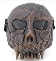 Wholesale Cheap WoSporT Desert Legion V1 Mask Outdoor Live CS Field Tactics Necessary Protective Steel Mesh Mask men fashion Training Masks