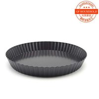 Wholesale 9 Inch Pizza live Bottom Pan Cake Round Corrugated Plate Pizza Mould The FDA High Grade Coating