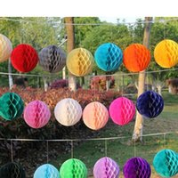Wholesale Hot selling Wedding favors Honeycomb Balls Hanging Decor Flowers Party Honeycomb Balls Paper honeycomb ball manufacturer supplies