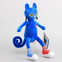 animal doll maker - Hot Sale cm New arrive Pete the cat plush kids toys high quality blue Merry Makers Stuffed dolls
