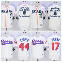 baseketball jerseys - Men s stitched The BASEketball Beers Movie Doug Remer Joe COOP Cooper Button Down Jersey Bad news White Button Baseball Jerseys