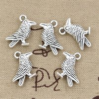 antique parrot - Cents Charms bird parrot mm Antique Making pendant fit Vintage Tibetan Silver DIY bracelet necklace