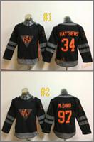 america cheap - North America Matthews mcdavid Black Cheap Hockey Jerseys ICE Winter mens women kids Stitched Jersey