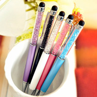 Wholesale Diamond pen gift stationery business office signature pen IPad crystal touch screen pen special offer