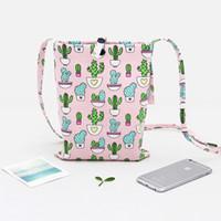 Популярные сумки досуга для девочек европейский и американский стиль Хлопок Холст Cactus сумка Новое прибытие Оптовая продажа горячего
