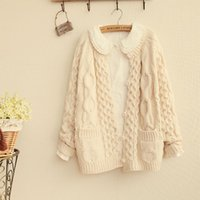 Wholesale womens loose sweaters Fashion Loose coat Long sleeve sweater wool oversized knitted cardigan coat M1182