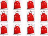 apron design - 2016 Hot Sale Christmas Football Aprons Red Satan Claus Design Aprons Xmas Family Kitchen Textiles Pinafores Christmas Celebration