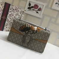 Women bee embroidery design - 2017 New Style High quality Fashion design bee embellished Embroidery womens brand Genuine Leather handbags Cross Body Shoulder Bag Brown