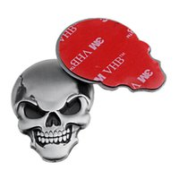 adhesive car stickers - 10PCS Chrome Silver D Skull Sticker Front Rear Bone Demon Emblem Badge with M Adhesive for Motorcycle Car SUV Truck