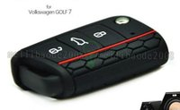 Wholesale NEW Car Accessories Key Case Key Bag Key Cover For Volkswagen VW Golf mk7 Skoda Octavia A7 Silicone Portect Case1pc per set MYY