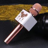 Wholesale Mic3 Q7 bluetooth Microphone Portable Wireless condenser microphone Wireless Karaoke Player microphone profession with Mic bluetooth Speaker