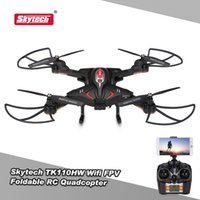 app cameras - Original Skytech TK110HW Wifi FPV P HD Camera Foldable RC Quadcopter with Flight Plan Route App Control Altitude Hold Drone RTF RM5505B