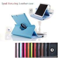 Wholesale Hot sales colors Send DHL FedEx Folding For Apple iPad Air Mini Wake Luxury Case Cover PU Leather case