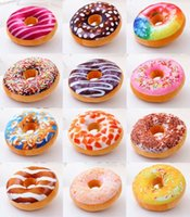 Wholesale Christmas Gift doughnut Hamburger Cushion Emoji Decorative Pillows Cute plush toys doughnut Cushion for girl pc b06