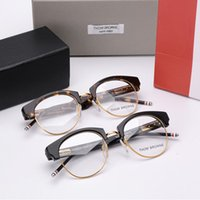 amber computer glasses - New Optical Eyeglasses Frame Men Women hom rowne Computer Myopia Eye Glasses Spectacle Frame For Women s Female Male TB C