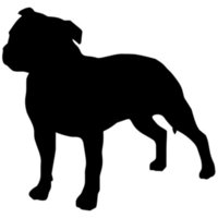 Wholesale 14 CM Lovely Staffordshire Bull Terrier Dog Window Decorative Decals Car Covers Scratch Fashion Stickers