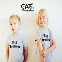 Classic big brother clothing - Big brother boys t shirt summer kids boys clothes short sleeve cotton letters boys t shirt tee shirts children