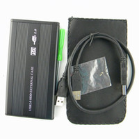 Wholesale 2 inch USB HDD Case Hard Drive Disk SATA External Storage Enclosure Box Retail Box Pack DHL