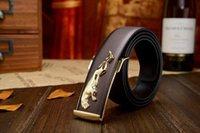 El cuero genuino 100% de la hebilla 100% del leopardo del metal de lujo de la marca de fábrica de la manera del cuero para la alta calidad Cintos de los hombres libera las correas del envío