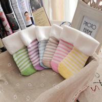 baby golf socks - 2016 The New comfortable Coral velvet children s Baby doll cotton cartoon baby socks Baby terry socks