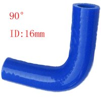 Intake Pipe Blue Universal RS.MTX Universal ID:16mm 90 degree straight silicone connector elbow Coupler reducer elbow tube Silicone hose Air Intake Pipe