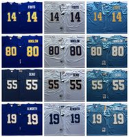 baby dan - Retired Player Throwback Football Jerseys Vintage Dan Fouts Junior Seau Lance Alworth Kellen Winslow Baby Blue Stitched Jersey