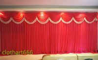 Wholesale 3M M backdrop wedding backcloth With Swags party curtain Wedding Party Stage Celebration Background graduation stage back cloth