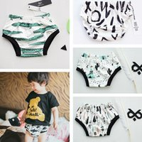 Wholesale Baby INS Briefs Kids Underwear Toddler Cotton Panties Unisex Tent Bear Shorts Infant Training Shorts Panda Briefs Diaper Cover PPA840