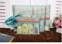 Garage bedding compression pack - 4Pcs Mesh Bags Clothes Storage Bags Packing Cube Travel Luggage Organizer Pouch