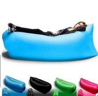 Wholesale Beach Portable Outdoor Furniture Air Bed Inflatable Hammock Sleeping Bag Camping Air Sofa Nylon Polyester Lazy Bag Environmental