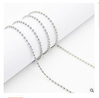 beaded chain connectors - Necklace Chain Plated Ball Beads Chain Necklace Stainless Steel Chain Bead Connector cm Necklace Accessory