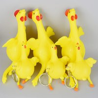 Wholesale new strange We cheat whimsy laying hens Egg laying cock street small toy of extrusion chicken out toys