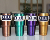 Wholesale colored yeti cups YETI Rambler Tumbler OZ Stainless Steel With Clear Lid New Cup BPA Free