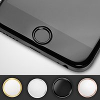 For Apple iPhone aluminium support - Fingerprint Support Touch ID Aluminium Metal Home Button Stickers For iPhone Plus S Plus S SE C Retail packing