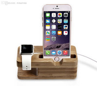 Wholesale Wood Wooden Charging Stand Dock station Holder For Apple Watch iWatch mm mm For iWatch for iPhone S PLUS