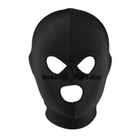 Wholesale Head Gear Sex Bondage Mask Hood Spandex Mouth Open Hood Sex Products