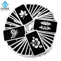 Wholesale OPHIR Airbrush Stencils series for Body Painting Glitter Temporary Tattoo Tattoo Henna Template Sheets _TA032 A E