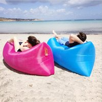 Wholesale Outdoor Fast Inflatable Air Couch Lazy Sofa Chair Hangout Sofa Bed Portable Banana Sleeping Bags Camping