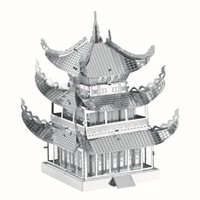Wholesale D Puzzles Children s Toys DIY Assembly Yueyang Tower Building Model Chinese Architecture Kids Toys Puzzle For Adult