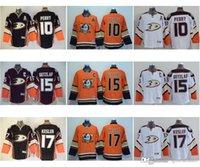 Wholesale Mens Anaheim Ducks Ryan Getzlaf Ryan Kesler Corey Perry Black Orange White Premier Hockey Jerseys Skiing Jackets