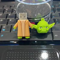 Star Wars USB Drives Master Cartoon Yoda Monster Flash USB réel 4 Go 8 Go 16 Go 32 Go USB 2.0 U disque gratuit DHL
