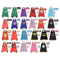 Wholesale Pretty Baby designs children superhero supergirl batman captain america robin transformer cape and mask sets children christmas gifts