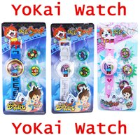 Wholesale Anime little poni toys YoKai watch for children projection watch student Christmas gift baymax kid projection toy